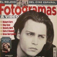 Coleccionismo de Revistas y Periódicos: FOTOGRAMAS / Nº 1822 / AGOSTO 1995 / PORTADA: JOHNNY DEPP. Lote 79759981
