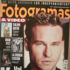 Coleccionismo de Revistas y Periódicos: FOTOGRAMAS / Nº 1843 / MAYO 1997 / PORTADA: VAL KILMER. Lote 79760985