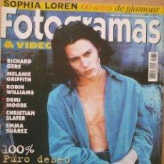 Coleccionismo de Revistas y Periódicos: FOTOGRAMAS / Nº 1831 / MAYO 1996 / PORTADA: JOHNNY DEPP. Lote 79763349