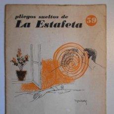 Coleccionismo de Revistas y Periódicos: PLIEGOS SUELTOS DE LA ESTAFETA. Nº 59. CINCO POEMAS. POR FERNANDO ORTIZ. 8 PAGINAS.. Lote 79843123