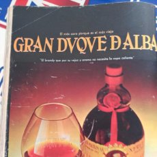 Coleccionismo de Revistas y Periódicos: ANUNCIO BRANDY COGNAC GRAN DUQUE DE ALBA . Lote 79862481