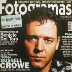 Coleccionismo de Revistas y Periódicos: FOTOGRAMAS / Nº 1891 / MAYO 2001 / PORTADA: RUSSELL CROWE . Lote 79885637