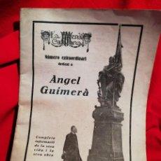 Coleccionismo de Revistas y Periódicos: REVISTA LA ESCENA CATALANA , NUMERO EXTRAORDINARI DEDICAT A ANGEL GUIMERA , 1924. Lote 79913173