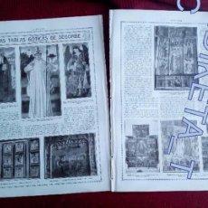 Coleccionismo de Revistas y Periódicos: LAS TABLAS GOTICAS DE LA CATEDRAL DE SEGORBE AÑO 1914. Lote 143718098