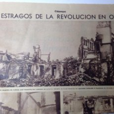 Coleccionismo de Revistas y Periódicos: RECORTE ESTAMPA OVIEDO 1934. Lote 80483367
