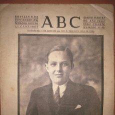 Coleccionismo de Revistas y Periódicos: ABC SEVILLA 8 DE SEPTIEMBRE DE 1938 PORTADA HA FALLECIDO EL PRINCIPE DON ALFONSO DE BORBON Y BATTEMB. Lote 80784070