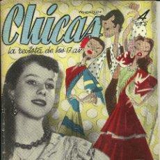 Coleccionismo de Revistas y Periódicos: REVISTA CHICAS - LA REVISTA DE LOS 17 AÑOS - Nº 145 - AÑO 1953. Lote 81131064