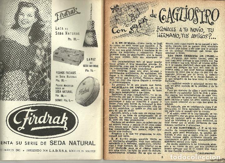 Coleccionismo de Revistas y Periódicos: REVISTA CHICAS - LA REVISTA DE LOS 17 AÑOS - Nº 145 - AÑO 1953 - Foto 2 - 81131064