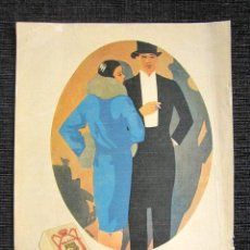 Collezionismo di Riviste e Giornali: ILUSTRACIÓN JABÓN CALBER. SAN SEBASTIÁN. PÁGINA REVISTA DE 1919 CON REVERSO TRUST JOYERO. . Lote 81238404