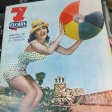 Coleccionismo de Revistas y Periódicos: REVISTA 7 FECHAS SUPLEMENTO DE VERANO MADRID JULIO 1960. Lote 81326552