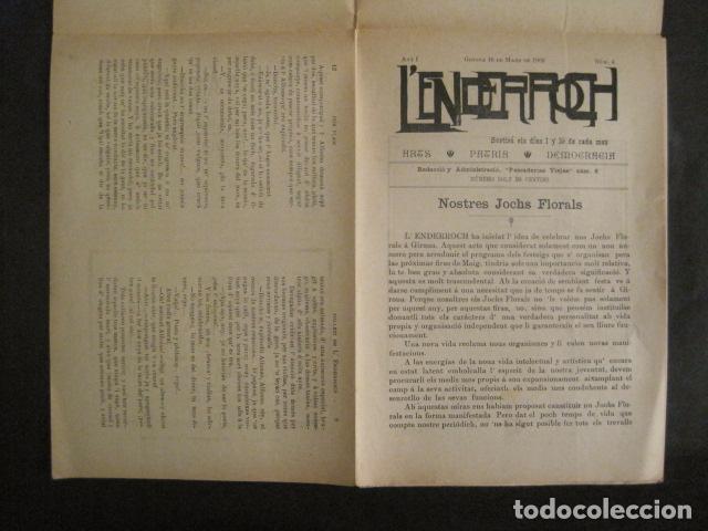 Coleccionismo de Revistas y Periódicos: L´ENDERROCH -ARTS PATRIA DEMOCRACIA-GIRONA 1902 - NUM. 4-HOJAS SIN CORTAR-VER FOTOS-(V- 10.203) - Foto 3 - 81678612