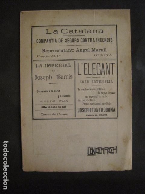 Coleccionismo de Revistas y Periódicos: L´ENDERROCH -ARTS PATRIA DEMOCRACIA-GIRONA 1902 - NUM. 4-HOJAS SIN CORTAR-VER FOTOS-(V- 10.203) - Foto 4 - 81678612