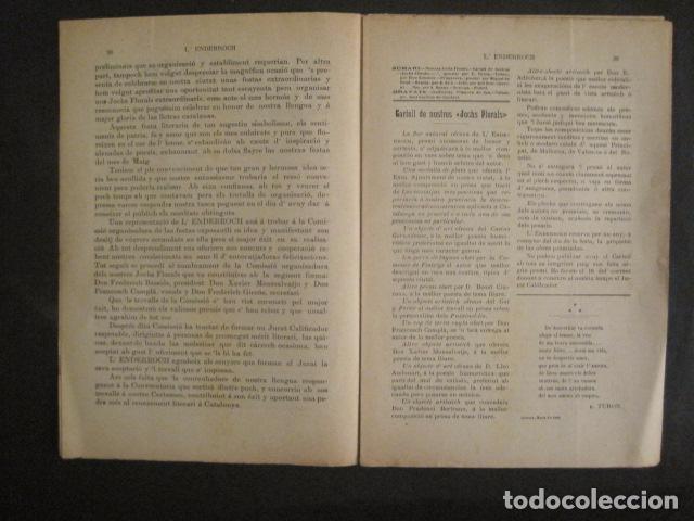 Coleccionismo de Revistas y Periódicos: L´ENDERROCH -ARTS PATRIA DEMOCRACIA-GIRONA 1902 - NUM. 4-HOJAS SIN CORTAR-VER FOTOS-(V- 10.203) - Foto 5 - 81678612