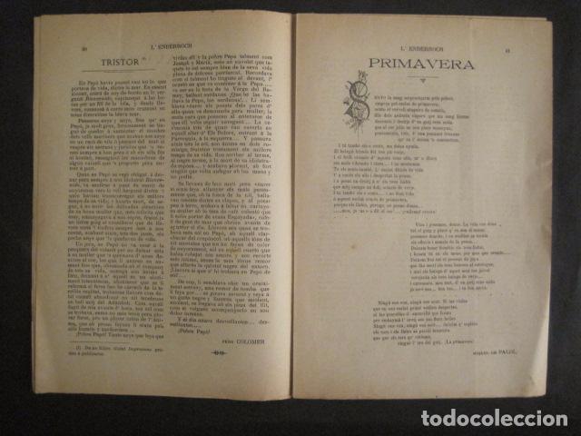 Coleccionismo de Revistas y Periódicos: L´ENDERROCH -ARTS PATRIA DEMOCRACIA-GIRONA 1902 - NUM. 4-HOJAS SIN CORTAR-VER FOTOS-(V- 10.203) - Foto 6 - 81678612