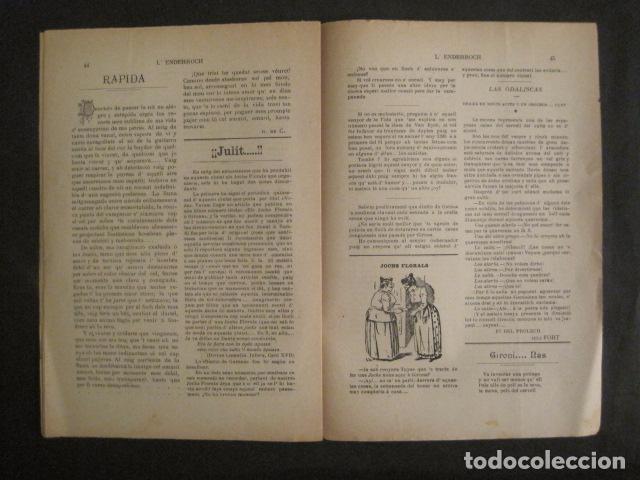 Coleccionismo de Revistas y Periódicos: L´ENDERROCH -ARTS PATRIA DEMOCRACIA-GIRONA 1902 - NUM. 4-HOJAS SIN CORTAR-VER FOTOS-(V- 10.203) - Foto 8 - 81678612