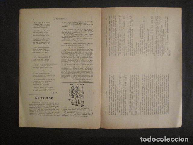 Coleccionismo de Revistas y Periódicos: L´ENDERROCH -ARTS PATRIA DEMOCRACIA-GIRONA 1902 - NUM. 4-HOJAS SIN CORTAR-VER FOTOS-(V- 10.203) - Foto 9 - 81678612