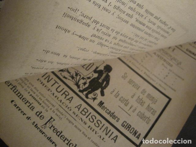 Coleccionismo de Revistas y Periódicos: L´ENDERROCH -ARTS PATRIA DEMOCRACIA-GIRONA 1902 - NUM. 4-HOJAS SIN CORTAR-VER FOTOS-(V- 10.203) - Foto 10 - 81678612