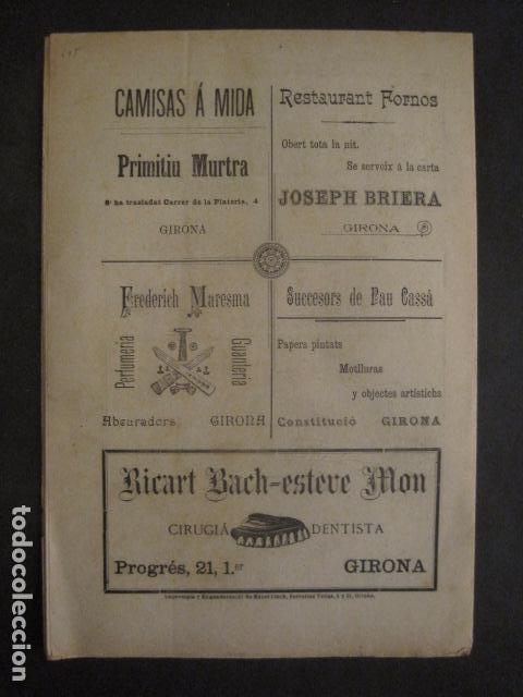 Coleccionismo de Revistas y Periódicos: L´ENDERROCH -ARTS PATRIA DEMOCRACIA-GIRONA 1902 - NUM. 4-HOJAS SIN CORTAR-VER FOTOS-(V- 10.203) - Foto 11 - 81678612