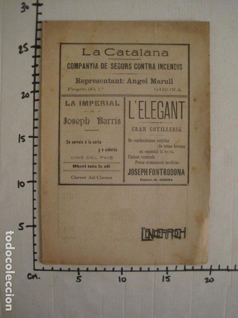 Coleccionismo de Revistas y Periódicos: L´ENDERROCH -ARTS PATRIA DEMOCRACIA-GIRONA 1902 - NUM. 4-HOJAS SIN CORTAR-VER FOTOS-(V- 10.203) - Foto 12 - 81678612
