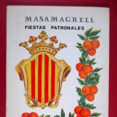 Coleccionismo de Revistas y Periódicos: REVISTA MASAMAGRELL 1976 , PROGRAMA OFICIAL FIESTAS PATRONALES , VALENCIA . Lote 81800892