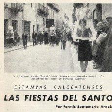 Coleccionismo de Revistas y Periódicos: SANTO DOMINGO DE LA CALZADA 1968 FIESTAS 2 HOJAS REVISTA. Lote 81827512