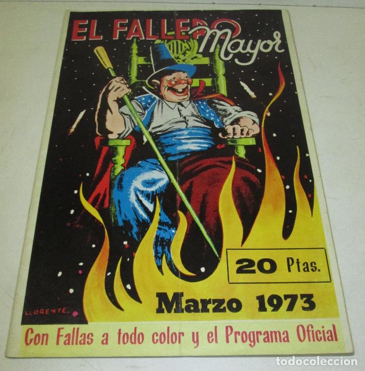 REVISTA EL FALLERO MAYOR 1973 - FALLAS VALENCIA (Coleccionismo - Revistas y Periódicos Modernos (a partir de 1.940) - Otros)