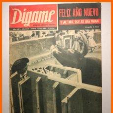 Coleccionismo de Revistas y Periódicos: DIGAME - AÑO XXVII Nº 1357, 4 ENERO 1966 - SIMON CABIDO. RICARDO ZAMORA. AÑO NUEVO. Lote 81929636