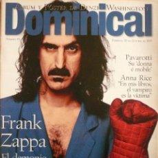 Coleccionismo de Revistas y Periódicos: DOMINICAL 22 OCTUBRE 1995, FRANK ZAPPA, PAVAROTTI,DENZEL WASHINGTON,RED HOT CHILI PEPPERS,CURAS CINE. Lote 82711812