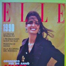 Coleccionismo de Revistas y Periódicos: REVISTA ELLE ITALIA ENERO 1990 KARA YOUNG CELIA FORNER VERONICA WEBB DIANA VREELAND AMALIA VAIRELLI. Lote 82772840
