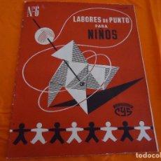 Coleccionismo de Revistas y Periódicos: REVISTA LABORES DE PUNTO PARA NIÑOS, ED. CYS, Nº. 6, 1961.. Lote 82890204