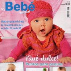Coleccionismo de Revistas y Periódicos: SONIA BEBE ESPECIAL N. 16 - MODA DE PUNTO DE BEBE EN TALLAS 56 HASTA 92 (NUEVA). Lote 82998988