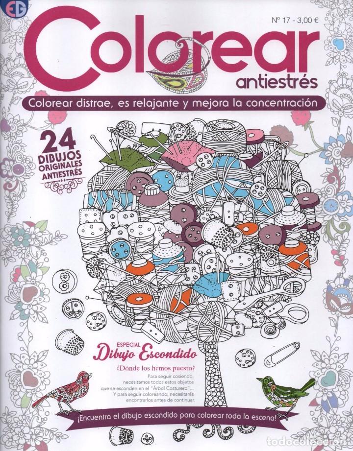 COLOREAR ANTIESTRES N. 17 - ESPECIAL DIBUJO ESCONDIDO - 24 DIBUJOS ORIGINALES (NUEVA) (Coleccionismo - Revistas y Periódicos Modernos (a partir de 1.940) - Otros)