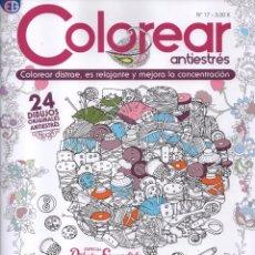 Coleccionismo de Revistas y Periódicos: COLOREAR ANTIESTRES N. 17 - ESPECIAL DIBUJO ESCONDIDO - 24 DIBUJOS ORIGINALES (NUEVA). Lote 168555553