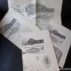 Coleccionismo de Revistas y Periódicos: LA BORDADORA PERIÓDICO DE DIBUJOS PARA BORDADOS Y DEMÁS LABORES DE SRA. BARCELONA AÑOS 1890.. Lote 83024440