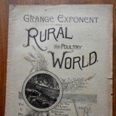 Coleccionismo de Revistas y Periódicos: AÑO 1890 / GRANERO EXPONENTE Y MUNDO RURAL Y AVÍCOLA / GRANGE EXPONENT AND RURAL AND POULTRY WORLD. Lote 83305452