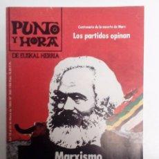 Coleccionismo de Revistas y Periódicos: PUNTO Y HORA Nº 302 (1983)MARXISMO Y CUESTIÓN NACIONAL/100 DÍAS SOCIALISTAS/EL PAPA EN CENTROAMERICA. Lote 83547904
