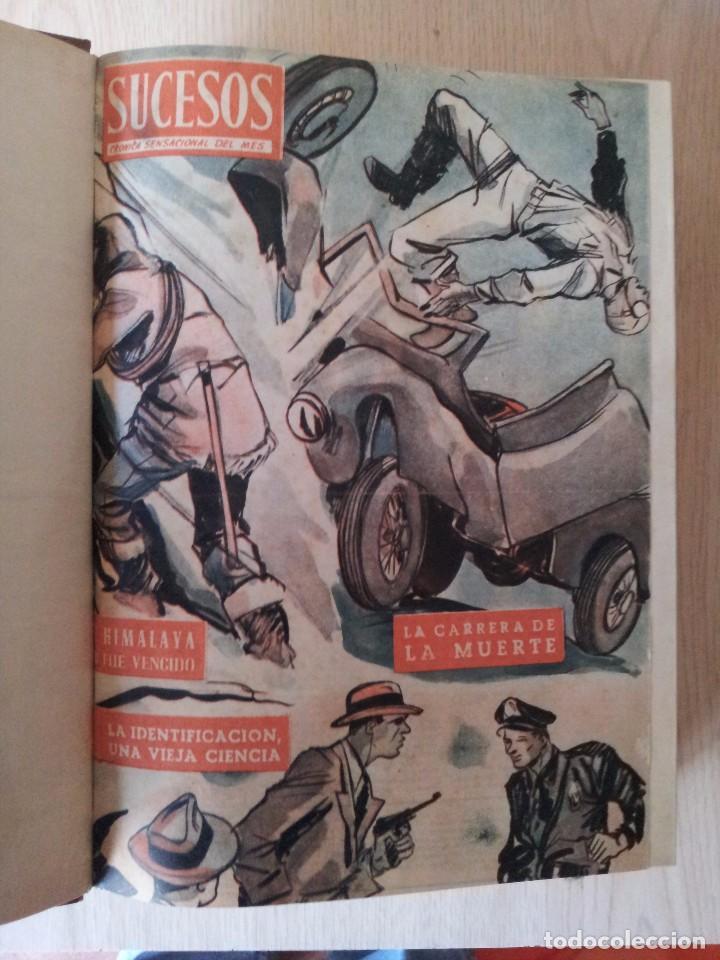 Coleccionismo de Revistas y Periódicos: REVISTA SUCESOS, CRONICA SENSACIONAL DEL MES -1 TOMO - Nº 1 AL 20 - Foto 2 - 83549008