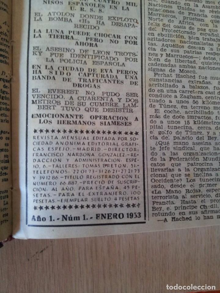 Coleccionismo de Revistas y Periódicos: REVISTA SUCESOS, CRONICA SENSACIONAL DEL MES -1 TOMO - Nº 1 AL 20 - Foto 3 - 83549008