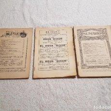 Coleccionismo de Revistas y Periódicos: LOTE 3 LECTURAS DEL 1923 SIN PORTADA.. Lote 83584680