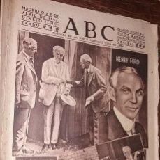 Colecionismo de Revistas e Jornais: Nº 12825 ABC 9 ABRIL 1947. MUERE HENRY FORD - POLITICA ESPAÑOLA. Lote 84062836