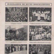 Coleccionismo de Revistas y Periódicos: HOJA DE REVISTA~1910~BARCELONA~SAN ROQUE CABEZUDOS~VALLVIDRERA~CERVECERIA BOHEMIA~BRUSELAS. Lote 84101852