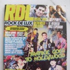 Coleccionismo de Revistas y Periódicos: REVISTA ROCK DE LUX Nº2. FRANKIE GOES TO HOLLYWOOD, MIGUEL RIOS, DEEP PURPLE... DICIEMBRE 1984.. Lote 84124360