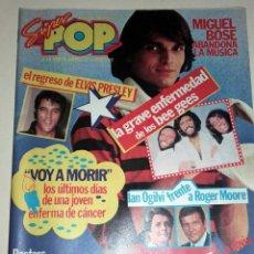 Coleccionismo de Revistas y Periódicos: REVISTA SUPER POP 41 BOSE ELVIS PRESLEY SUPERTRAMP PERALES GRETA GARBO SINATRA BEE GEES TEQUILA. Lote 84327180