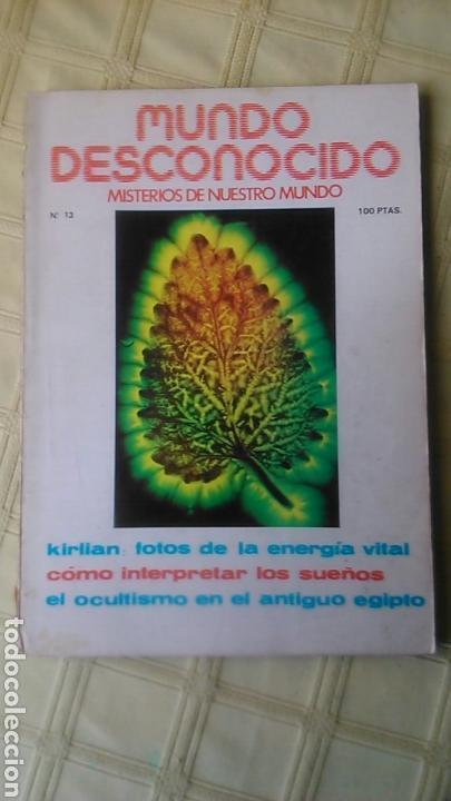 MUNDO DESCONOCIDO. REVISTA 13. (Coleccionismo - Revistas y Periódicos Modernos (a partir de 1.940) - Otros)