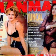 Coleccionismo de Revistas y Periódicos: DOS REVISTAS - MAN - ESPECIAL Nº 100 DE 1996 - JUNCAL Y AZNAR - Y Nº 27 DE 1995 - DREW BARRYMORE -. Lote 84639196