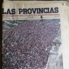 Coleccionismo de Revistas y Periódicos: PERIODICO LAS PROVINCIAS 11 M. Lote 85051255