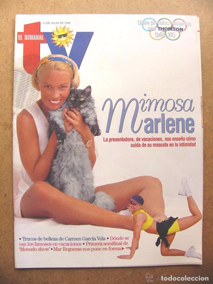 REVISTA EL SEMANAL TV Nº 455 MAR REGUERAS CARMEN GARCIA VELA MENUDO SHOW HOSPITAL --REFSAMUMEES6 (Coleccionismo - Revistas y Periódicos Modernos (a partir de 1.940) - Otros)