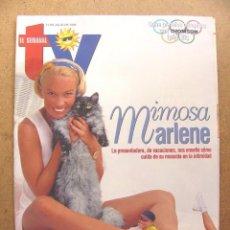 Coleccionismo de Revistas y Periódicos: REVISTA EL SEMANAL TV Nº 455 MAR REGUERAS CARMEN GARCIA VELA MENUDO SHOW HOSPITAL --REFSAMUMEES6. Lote 85140408