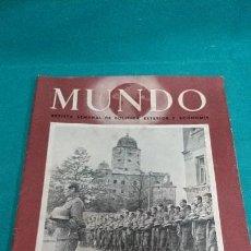 Coleccionismo de Revistas y Periódicos: LOTE REVISTA MUNDO OCTUBRE 1941. Lote 85254496