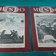 Coleccionismo de Revistas y Periódicos: LOTE REVISTA MUNDO AGOSTO 1943. Lote 85254812